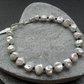 Keshi Pearl and Black Spinel Bracelet Sterling Silver