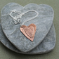 Copper Heart Pendant With Sterling Silver Chain