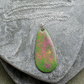 Green Pink and Yellow Enamel Pendant With Sterling Silver Chain