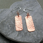 Copper Drop Earrings Dangle Earrings