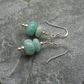 Sterling Silver Amazonite Semi Precious Gemstone Earrings