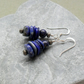 Lapis Lazuli and Pyrite Sterling Silver Drop Earrings