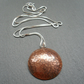 Copper Disc Pendant With Sterling Silver Chain Vintage Style