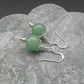 Green Aventurine Sterling Silver Drop Earrings