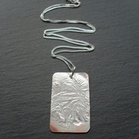 Copper  Pendant With Sterling Silver