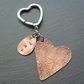Copper Heart Dandelion Wish Keyring
