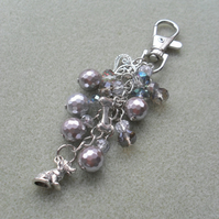 Little Silver Dog Bag Charm