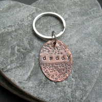 Daddy Copper Keyring Vintage
