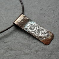 Vintage Copper With Sterling Silver Bar Necklace