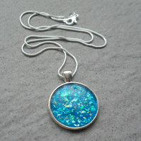 Now 5 Pounds Blue Resin Pendant