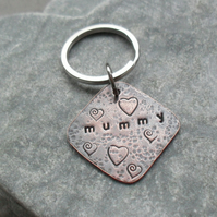 Mummy Copper Keyring Mothers Day