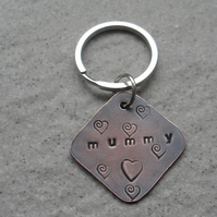Mummy Copper Keyring