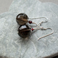 Smokey Quartz and Garnet Sterling Silver Drop Earrings