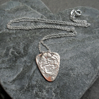 Small Copper Pendant With Sterling Silver