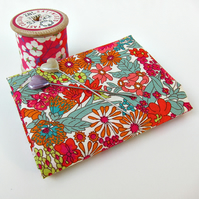 Margaret Annie (orange, red, teal) Liberty Mini Single (9x12 inches)