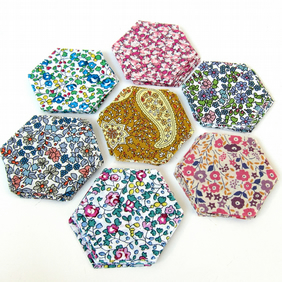 70 Liberty Tana Lawn 1 inch hexagons