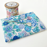 Elysian (blue, turquoise) Liberty Mini Single (9x12 inches)