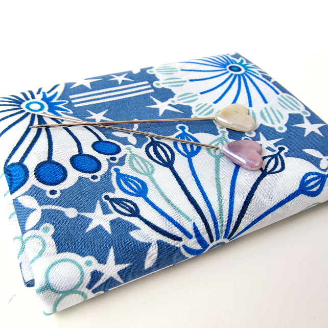 Umbel (blue) - Liberty Mini Single (9x12 inches)