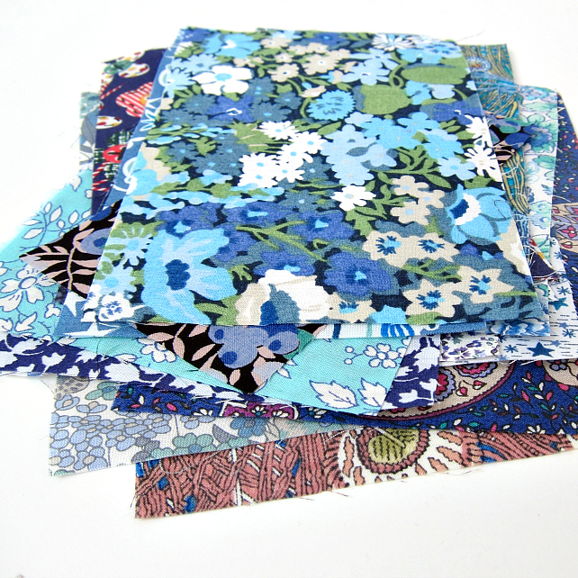 Ltd Edition: The Blues Mini Scrap Bag of Liberty Lawn