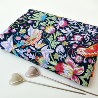 Strawberry Thief (dark blue) - Liberty Mini Single (9x12 inches)