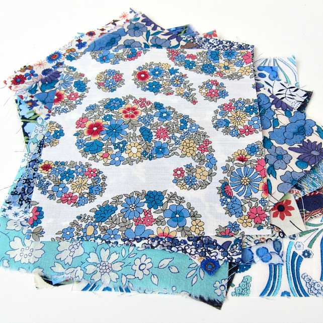 Limited Edition Mini Scrap Bag of Liberty Tana Lawn - blues