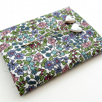 Emilia's Flowers (green & lilac) - Liberty Mini Single (9x12)