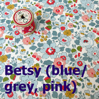 Betsy (pale blue) - Liberty Fat 8th (13x19 inch)