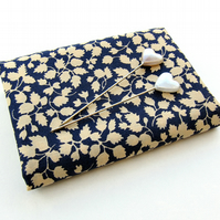 Glenjade (navy blue and cream) - Liberty Mini Single (9x12)