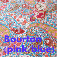 Bourton (pale blue, pink) - Liberty Fat 8th (13x19 inch)
