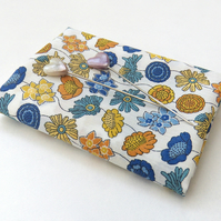 Lydia (D), blue, yellow - Liberty Lawn fabric (9x12 inch piece)