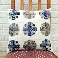 Liberty lawn patchwork cushion