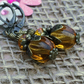 Topaz Colour Melon Earrings, Gift for Mum, Women's Earrings, Glass Bead Earrings