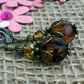 Tortoiseshell Melon Earrings, Gift for Mum, Women's Earrings, Glass Beads