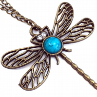 Dragonfly Necklace, Good Luck Gift, Spiritual Awareness Necklace