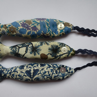 a trio of blue liberty tana lawn lavender fish