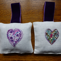 lavender bags - with liberty hearts