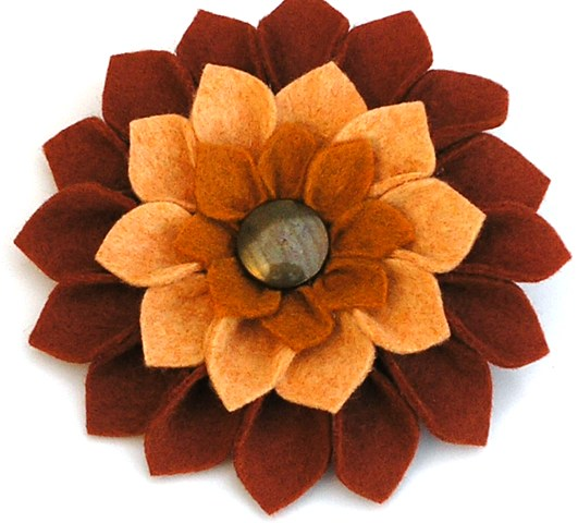 Three Tier Flower Brooch