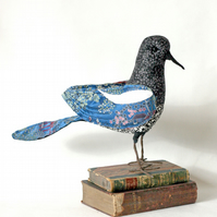 Walter, decorative bird fabric textile sculpture, free UK delivery