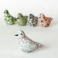Decorative bird in Liberty Jess & Jean fabric with lavender, free postage UK
