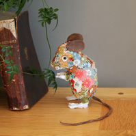 Field Mouse II - Textile art sculpture - free P&P to UK
