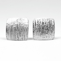 Sterling Silver Birch Bark Cufflinks