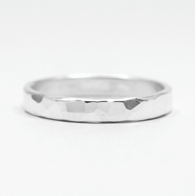 hammered sterling silver ring folksy