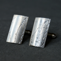 Wild Grass Sterling Silver Cufflinks
