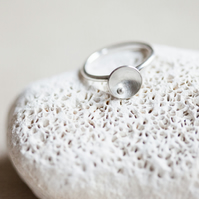 One Stack Ring 'Circles and Pearls' Large