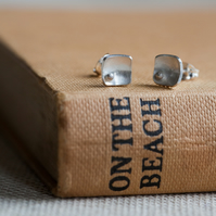 Squares and Pearls Earring Studs Small
