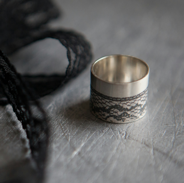 Black Lace Statement Ring