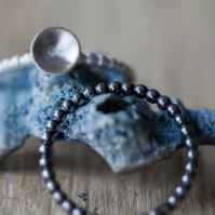 Oxidised Silver Stack Ring