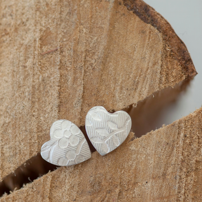 Little Heart Floral Studs