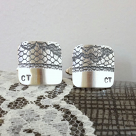 13th Anniversary Lace Cufflinks