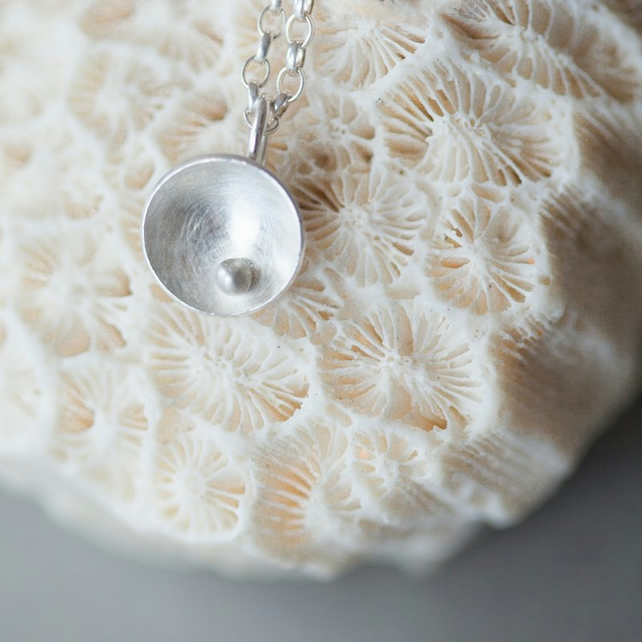 Small Round Silver Necklace